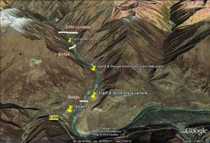 Zangmu dam terrain